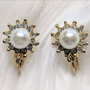 Jewelry - Tiny Pearl Huggie Earrings